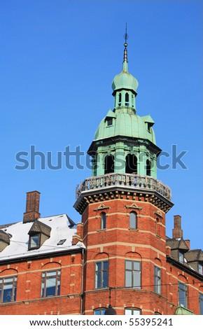 Houses in Copenhagen - stock photo