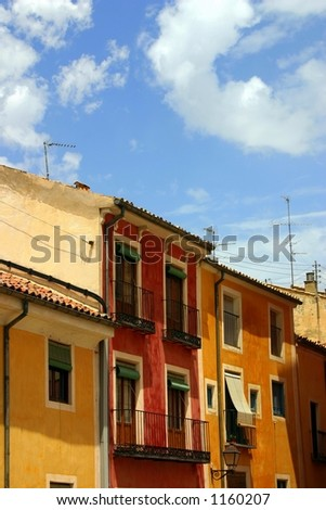Houses In Cuenca - stock photo