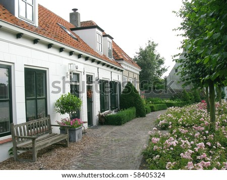 Houses in Noordwelle in the Netherlands