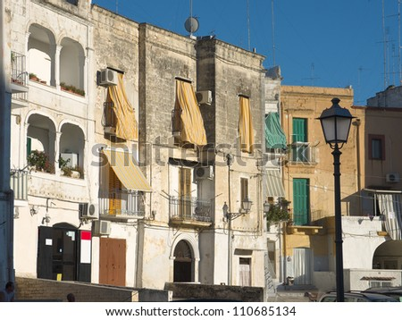 houses in Old Town of Bari - stock photo