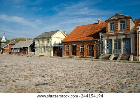 Houses in Rumsiskes, open-air ethnographic museum, Kaunas, Lithuania