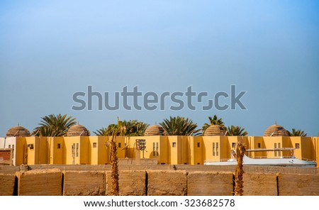 Houses in the Arabian desert Hurghada