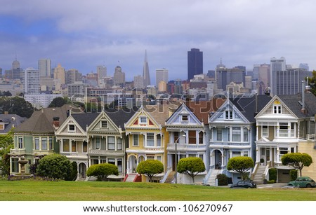 Houses near Alamo Square in San Francisco