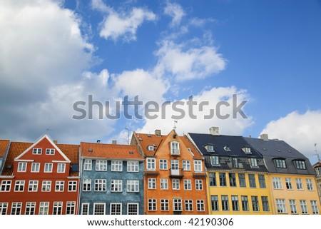 Houses of Nyhavn, Copenhagen - stock photo