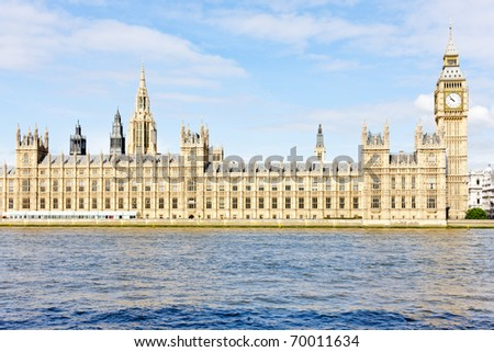 Houses of Parliament and Big Ben, London, Great Britain - stock photo