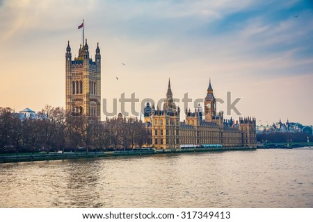 Houses of parliament in London, UK