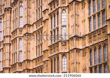 Houses Parliament London Close Fullframe Detail Stock Photo