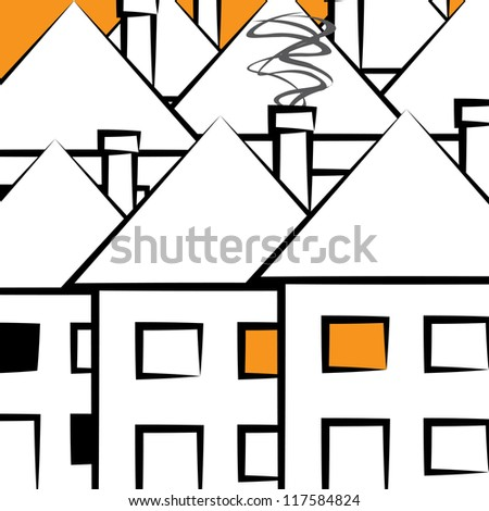 houses of the city. background. (vector version also available in my gallery) - stock photo