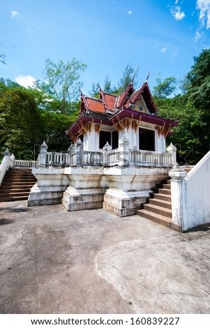 Houses of the Holy Thailand style in Ranong downtown