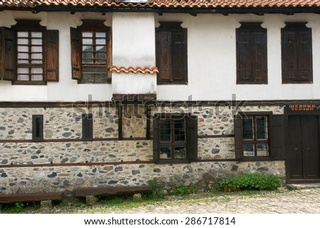 houses of Zlatograd 29 - stock photo