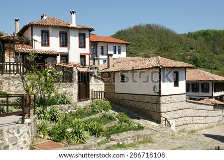 houses of Zlatograd 16 - stock photo