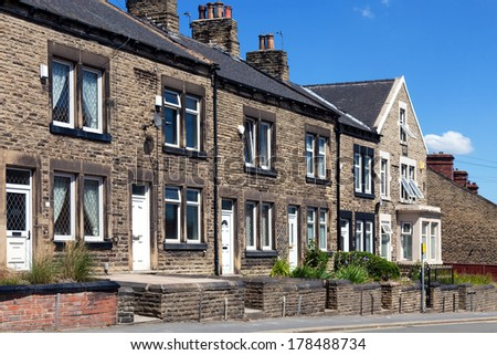 Houses on a Typical English Residential Estate - stock photo
