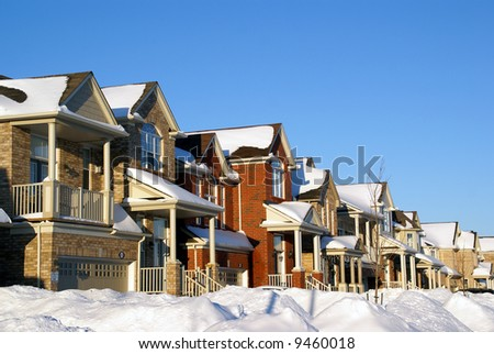 houses on winter