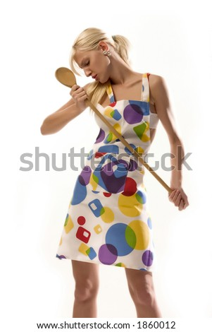 housewife in trance - stock photo