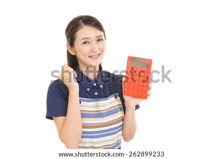 Housewife with a calculator