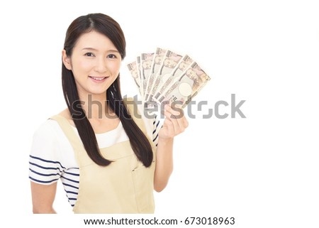 Housewife with money