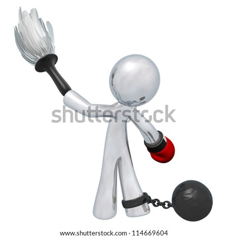 Housework feeling oppressive? Does it make you want to punch someone? Hey man, I just fill requests. Someone wanted me to make this image. - stock photo