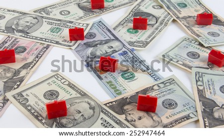Housing and real estate investment and inflation concept - stock photo