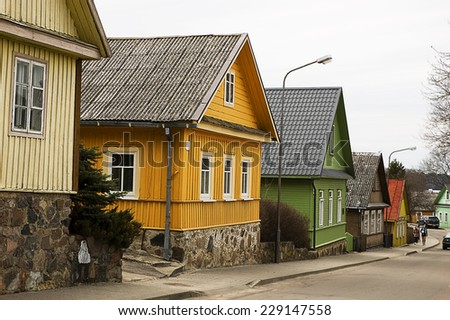Housing characteristics of Lithuania and in particular of Trakai. - stock photo