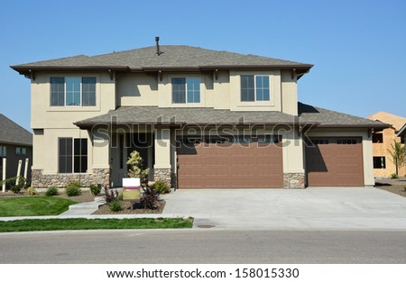 Housing Estate - stock photo