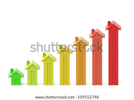 Housing market business charts - stock photo