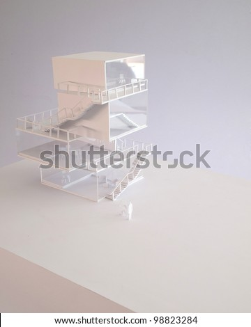 housing model, japanese style - stock photo