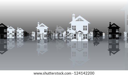 housing selection - stock photo