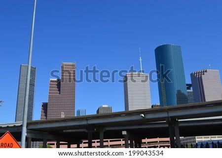 Houston City View, Texas - stock photo