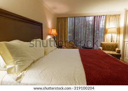 Houston - DECEMBER 13, 2013: Houstonian Hotel on December 13 in Houston, USA. Houstonian Hotel is a luxury hotel in Houston. - stock photo