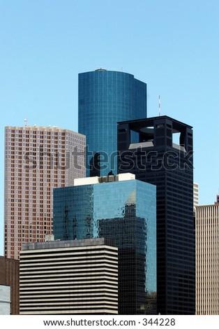 Houston Skyscrapers - stock photo