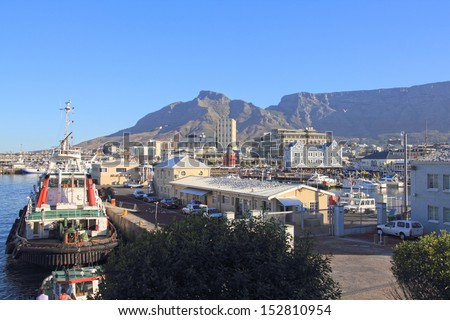 Hout Bay harbour , close to Cape Town, South Africa - stock photo