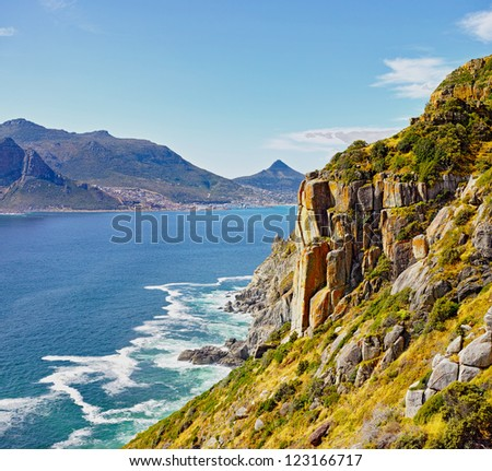 hout bay view from chapman's peak, Cape Town area, south africa