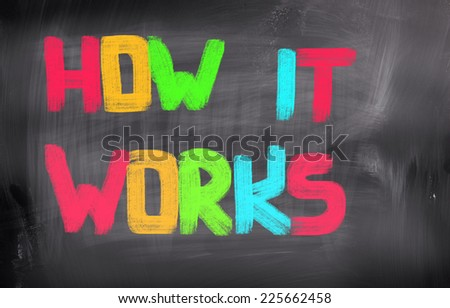 How It Works Concept - stock photo