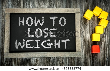 How To Lose Weight? written on chalkboard - stock photo