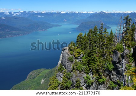 Howe Sound in British Columbia, Canada - stock photo