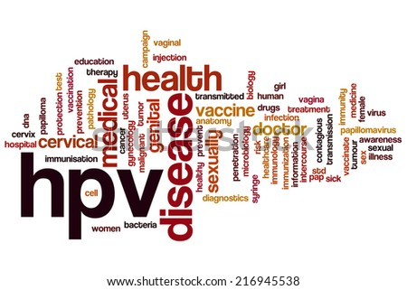 HPV concept word cloud background - stock photo