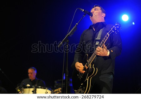 HRADEC KRALOVE - JULY 4: Singer and guitarist Greg Dulli of famous American band The Afghan Whigs during performance at festival Rock for People in Hradec Kralove, Czech republic, July 4, 2014.
