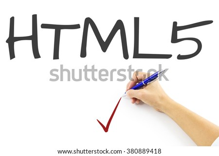 HTML5 main menu in code editor for website development, implementing SEO concepts for better SERP. search engine optimization for better rankings with anchor tags for keyword planning and targeting - stock photo