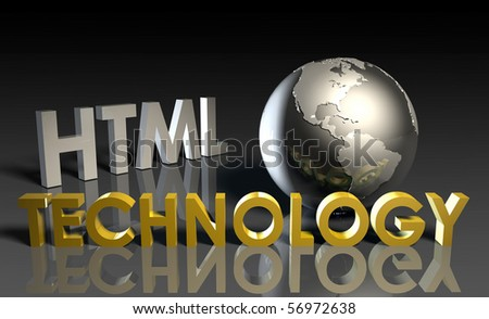 HTML Technology Internet Abstract as a Concept - stock photo