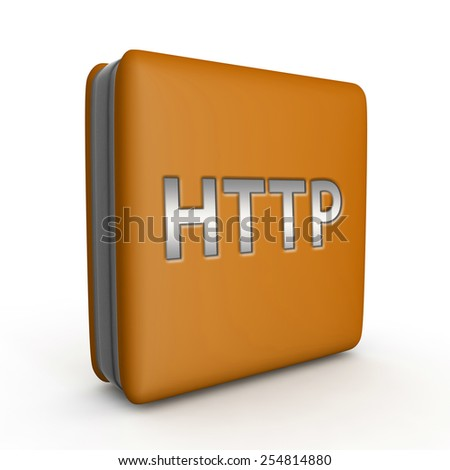 http square icon on white background - stock photo