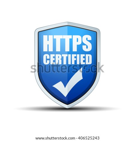 HTTPS Certified shield sign
