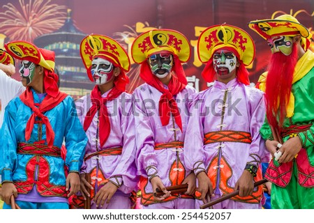 HUA HIN, THAILAND FEBRUARY 18: Thai people celebrate Chinese New Year on February 18, 2015 in Hua Hin. In Thailand New Year is celebrated on three occasions, the Gregorian, the Chinese and Songkran.