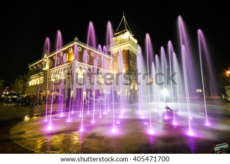 HUA HIN, THAILAND - JAN 2014: Vanezia Hua Hin on Jan 04, 2014 in Hua Hin. It's a famous tourists attraction in Hua Hin which the inspiration of this project came from Venice in Italy. - stock photo