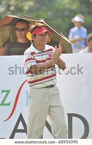 HUA HIN THAILAND - JANUARY 8 : Joe Ozaki in The Royal Trophy Tournament at Black Mountain Golf Club Hua Hin Thailand on January 7-9 2011