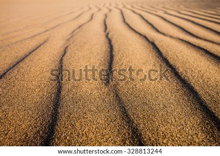 Huacachina desert in Ica Region, southwestern Peru - stock photo