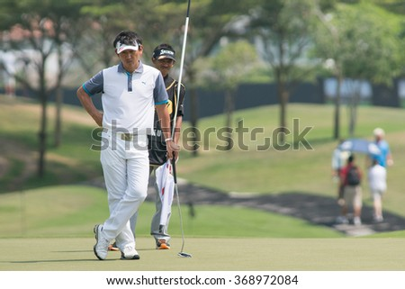 HUAHIN, THAILAND-FEBRUARY 12: Unho Park of South Korea during Round 1 of 2015 True Thailand Classic on February 12, 2015 at Black Mountain Golf Club in Hua Hin, Thailand