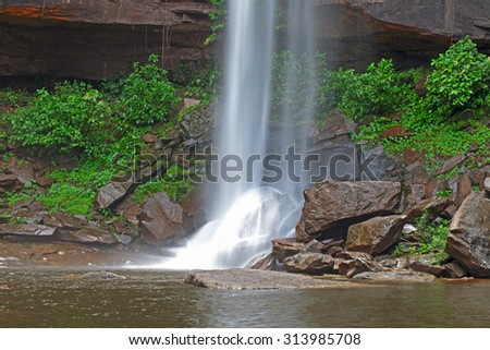 Huai Luang Waterfall in Ubon Ratchathani, Thailand - stock photo