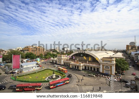 Hualampong-Train Station, Thailand's central railway station - stock photo