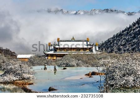 Huanglong National Park near Jiuzhaijou - SiChuan, China - stock photo