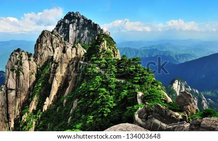 Huangshan Mountains - stock photo